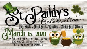 St. Paddy's Celebration, Hosted by Lucky Find Markets @ Lucky Find Market - Blue Goose Event Center