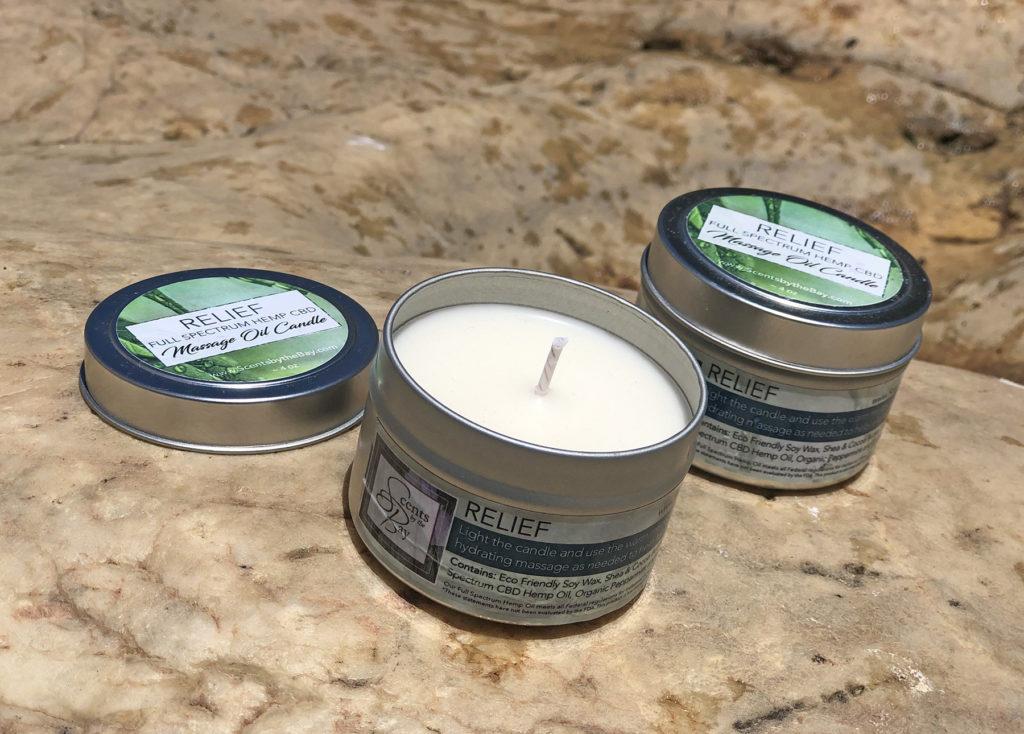 CBD Massage Oil Candle